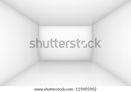 White empty room interior. illustration for design - stock vector