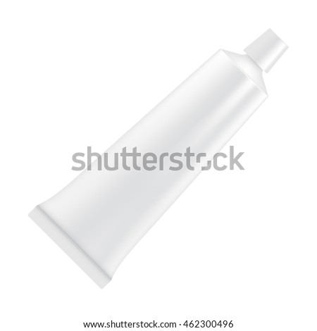white empty tube of toothpaste or cream. package mock up