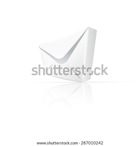 White envelope with paper easy editable - stock vector