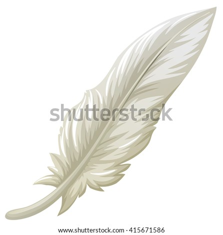 White feather on white background illustration