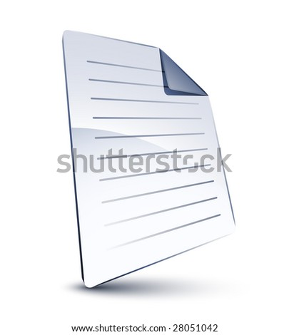 White file - stock vector