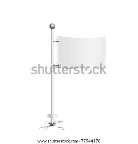 white flag vector - stock vector