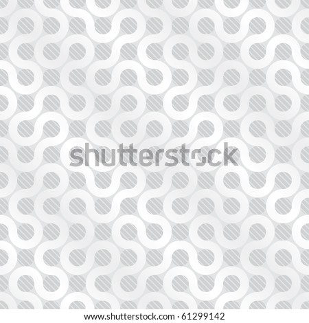 White flow background (editable seamless pattern)  - stock vector