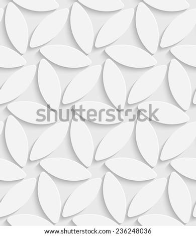 White Flower Pattern. Vector Seamless Background - stock vector