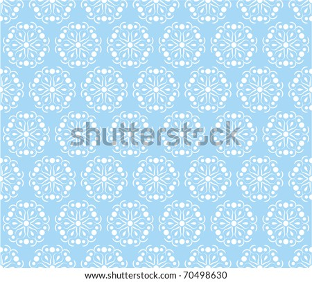 White flowers - seamless structure - stock vector