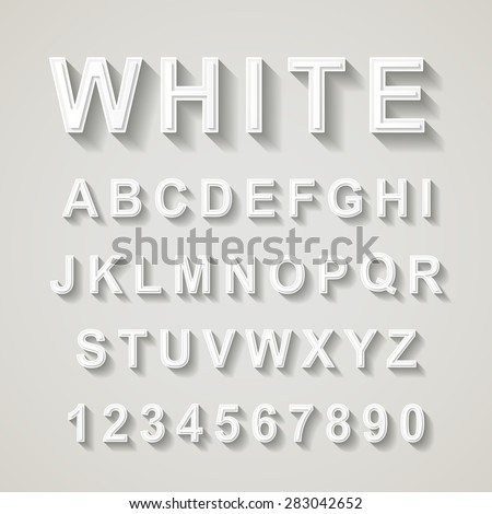white font design set over grey background  - stock vector