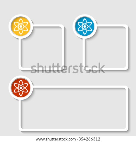 White frame for any text with science symbol - stock vector