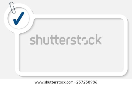 white frame for text and check box - stock vector