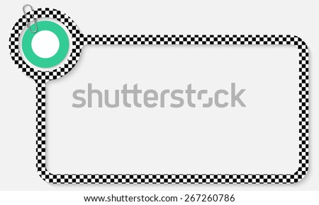 white frame for your text with square pattern - stock vector