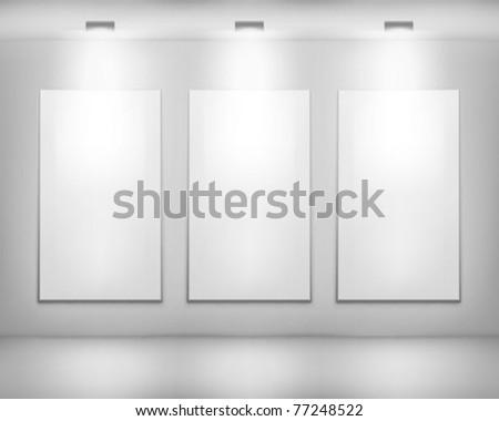 White frames. Vector illustration. - stock vector