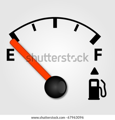 White Gas Tank Illustration - stock vector