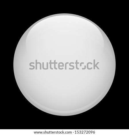 White glass sphere - stock vector