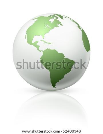 White globe, vector - stock vector