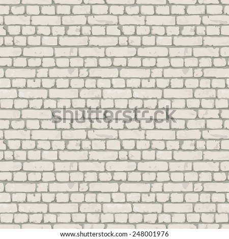 White- gray brick wall. Endless texture, web page background. Vector seamless pattern.e p s 1 0 - stock vector