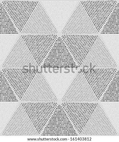 White, gray modern geometric texture 3d. A seamless vector background. - stock vector