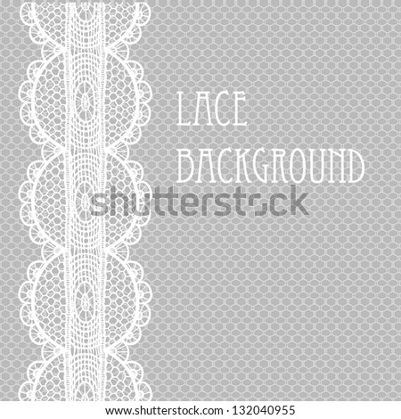 White-grey pale lace background.