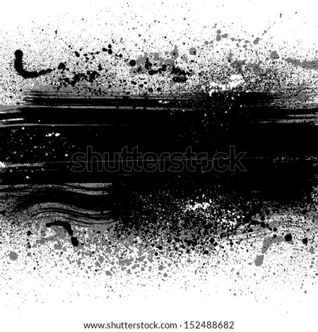 White grunge background with ink blots. eps10