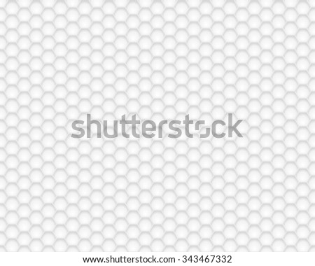 White hexagon texture. Vector background - stock vector