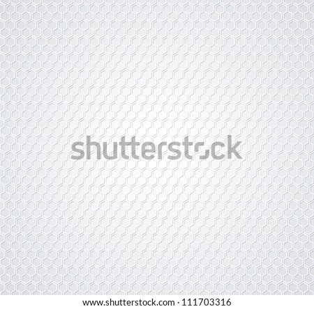 White honeycomb on gray background - stock vector