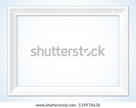 White Horizontal Picture Frame Illustration - stock vector