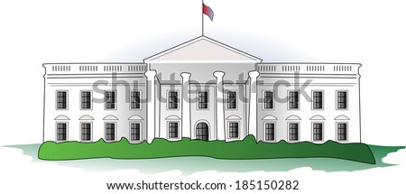 White House - stock vector