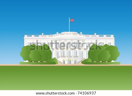 white house ( background on separate layer ) - stock vector
