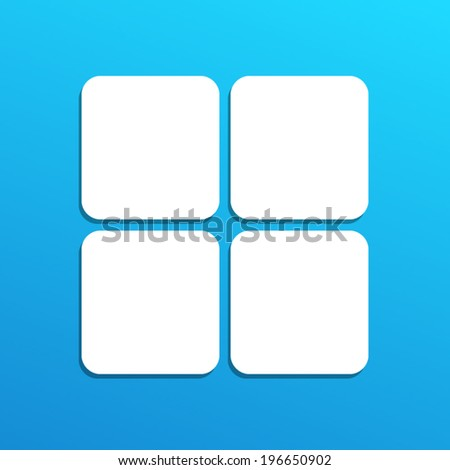 white  icon on blue sky background(vector)