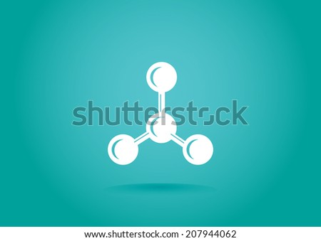 White icon on turquoise background - stock vector