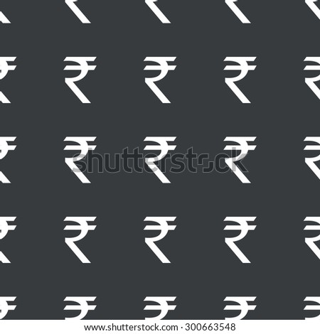 White Image Indian Rupee Symbol Repeated Stock Vector 300663548