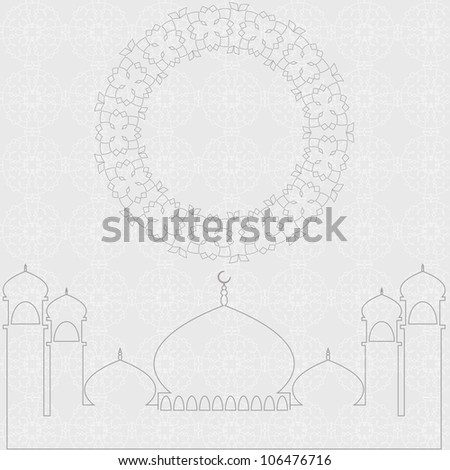 White Islamic Design. Jpeg Version Also Available In Gallery. - stock vector