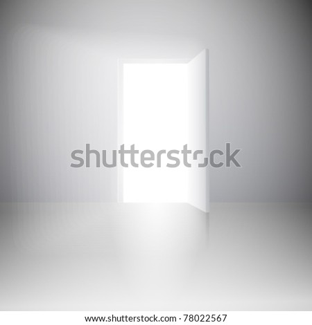 White light's door, vector - stock vector