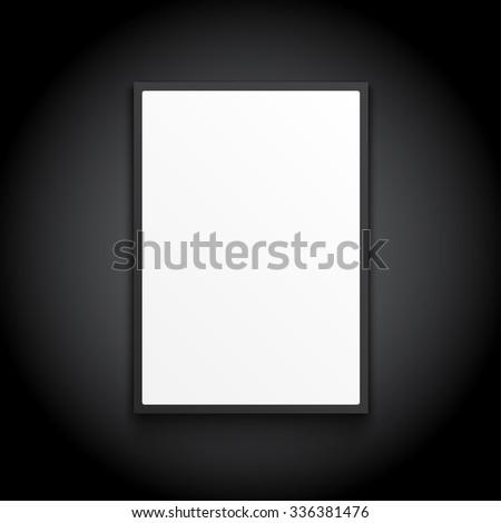 white lightbox on black wall