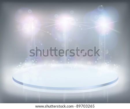White lights. Vector illustration. - stock vector