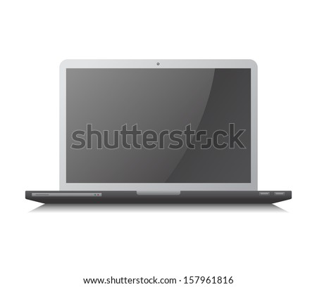 white notebook laptop
