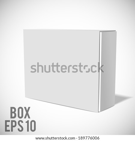 White Package Box. - stock vector