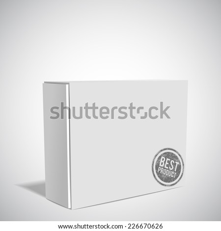 White Package Box. mockup - stock vector
