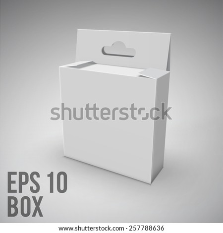 White Package Box.Mockup. - stock vector