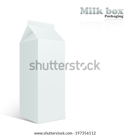 White Package Box, Vector illustration