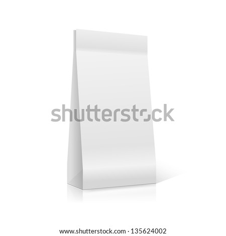 White packaging  for advertising and branding - stock vector