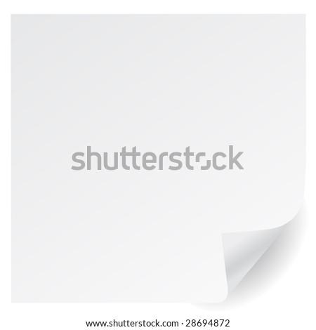 white page corner vector - stock vector