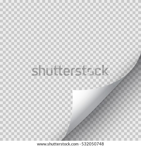 White Page Curl Corner On Blank Stock Vector Hd Royalty Free