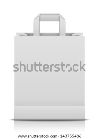 White paper bag - stock vector