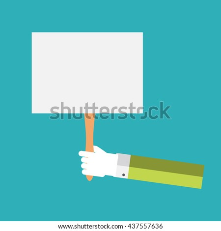 White paper blank in the hand. Vector Illustration. EPS10