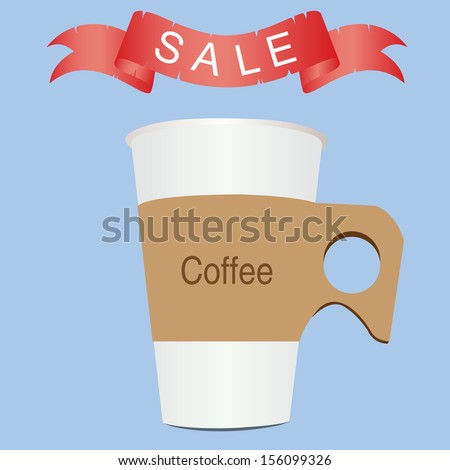 White paper cup.eps10 - stock vector