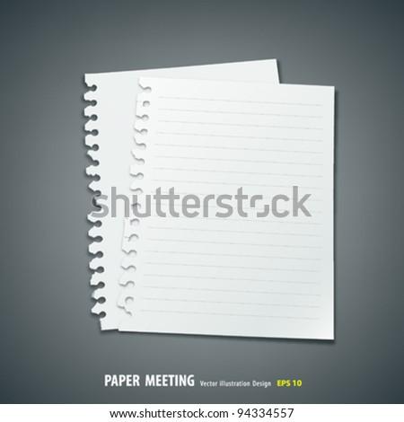 White paper meeting vector illustration - stock vector