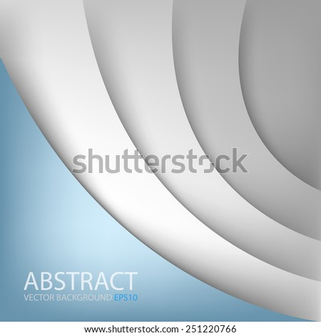 White paper vector background curve line overlap layer with blue space for text and message modern artwork for website design - stock vector