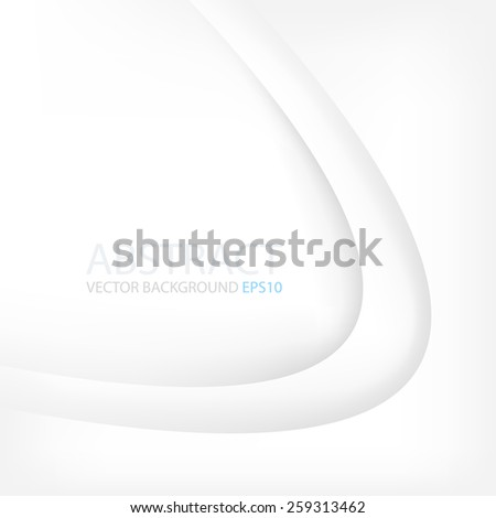 White paper vector background curve line overlap layer with space for text and message modern artwork for website design - stock vector