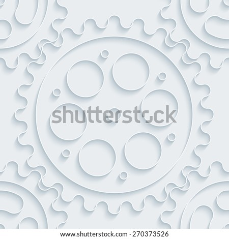 White paper with outline extrude effect. Abstract 3d seamless background. Halftone vector EPS10. - stock vector