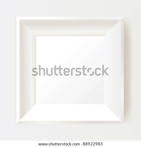 White photo frame. - stock vector