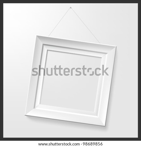 White photo frame. Vector. - stock vector